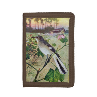 Northern Mockingbird Tri-fold Wallet