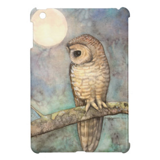 Northern Spotted Owl Art by Molly Harrison iPad Mini Cover