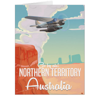 northern territory Australia travel cartoon Card