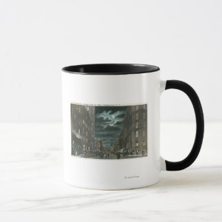 Northern View of Chenango Street at Night Mug