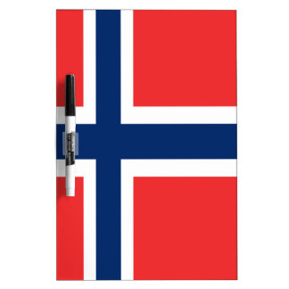 Norway flag design on product dry erase board