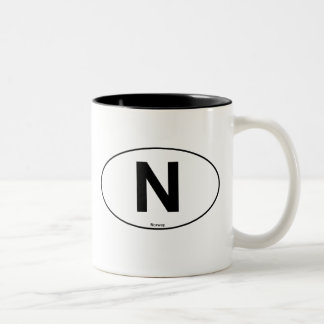 Norway Oval Two-Tone Coffee Mug