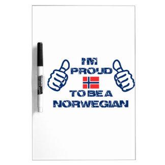Norwegian design dry erase board