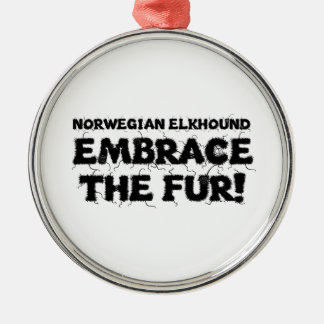 Norwegian Elkhound Embrace The Fur Christmas Ornament
