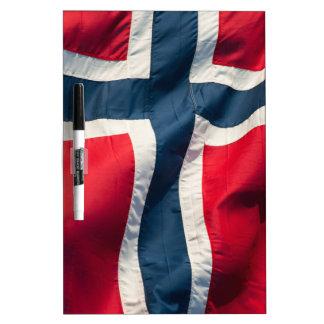 Norwegian flag dry erase board