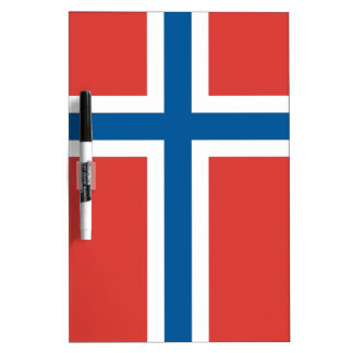 Norwegian Flag Dry Erase Board