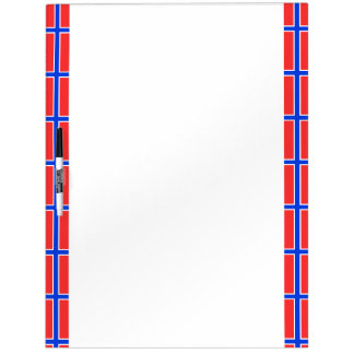 Norwegian stripes flag dry erase board
