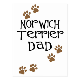 Norwich Terrier Dad for Norwich Terrier Dog Dads Postcard