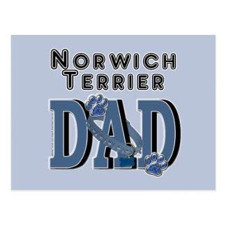 Norwich Terrier DAD Postcard