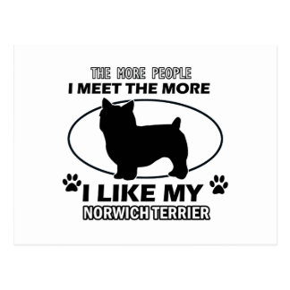 Norwich Terrier designs and gifts Postcard