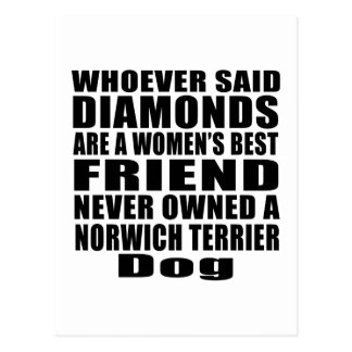 NORWICH TERRIER DOG BEST FRIEND DESIGNS POSTCARD