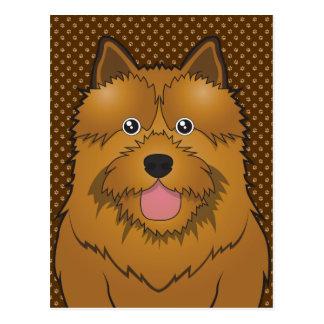 Norwich Terrier Dog Cartoon Paws Postcard