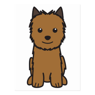 Norwich Terrier Dog Cartoon Postcard