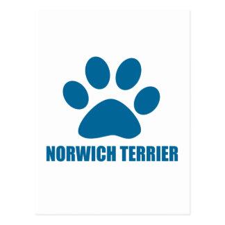 NORWICH TERRIER DOG DESIGNS POSTCARD