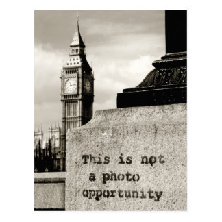 not a photo opportunity postcard