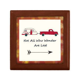 Not All Who Wander Are Lost Quote Trailer Caravan Gift Box