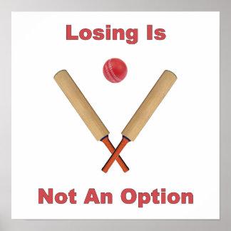 Not An Option Cricket Poster