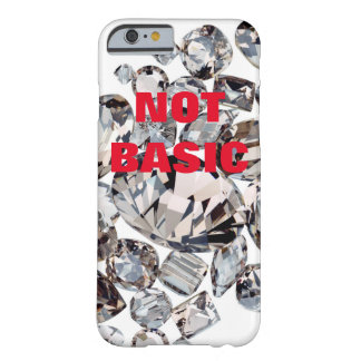NOT BASIC with bling strass rhinestones Barely There iPhone 6 Case