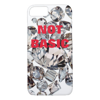 NOT BASIC with bling strass rhinestones iPhone 7 Case