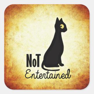 Not entertained sassy black cat sticker