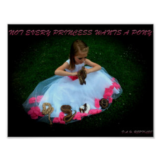 Not Every Princess Wants A Pony Poster