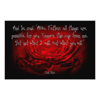 Not My Will But Yours Be Done Mark 14:36 Scripture 14 Cm X 21.5 Cm Flyer