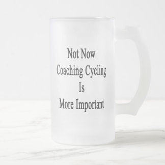 Not Now Coaching Cycling Is More Important Mugs
