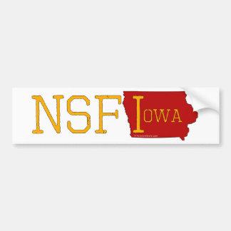 Not Safe for Iowa Bumper Sticker