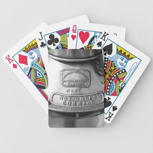 Not Under Command - BW Poker Deck