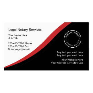 Notary Business Card Template