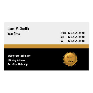 Notary Business Cards_2 Business Card Template
