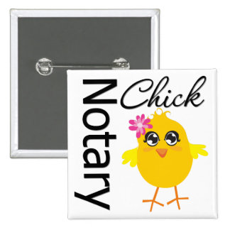 Notary Chick 15 Cm Square Badge