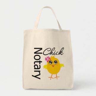 Notary Chick Grocery Tote Bag