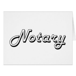 Notary Classic Job Design Big Greeting Card