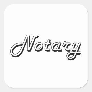 Notary Classic Job Design Square Sticker