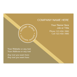 Notary Public Business Card Template