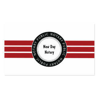 Notary Services Pack Of Standard Business Cards