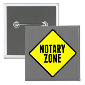 Notary Zone Road Sign 15 Cm Square Badge