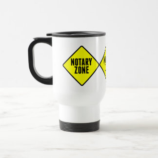 Notary Zone Road Sign Travel Mug