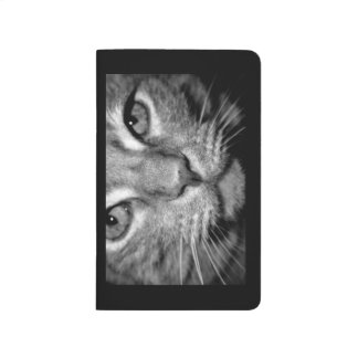 Note Book - Tabby Cat - black and white