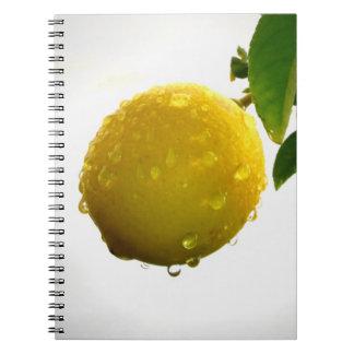 Notebook / Personal Journal - yellow lemon