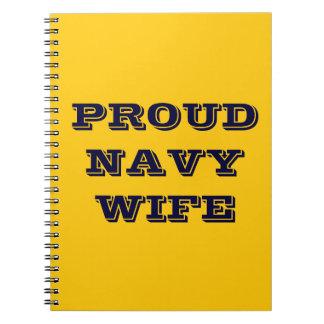 Notebook Proud Navy Wife