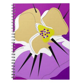 notebook,PURPLE PANSY Notebook
