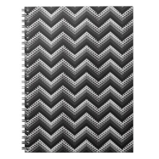 Notebook Retro Zig Zag Chevron Pattern