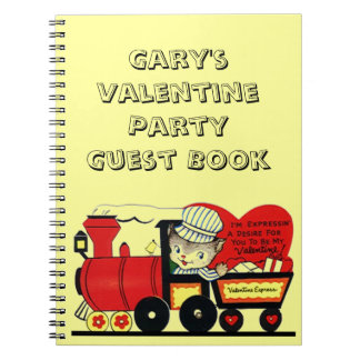 Notebook Vintage Valentine Party Guest Book Card