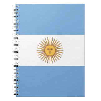 Notebook with Flag of Argentina