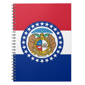 Notebook with Flag of Missouri State