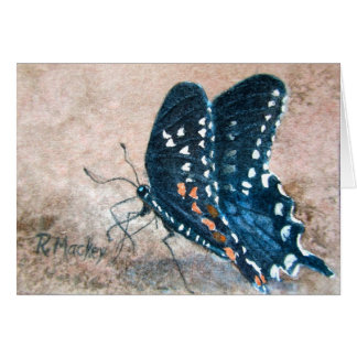 Notecard, Butterfly Blank notecard Note Card