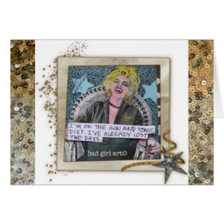 NOTECARD-I'M ON THE GIN AND TONIC DIET. GREETING CARD