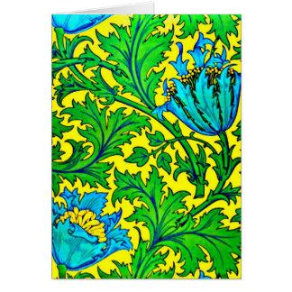 Notecard-Vintage Fabric Fashion-William Morris 2 Greeting Card